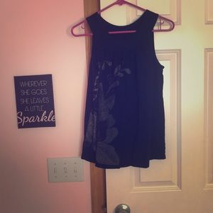Black tank top from Express with flower detail